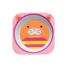 Skip Hop 动物园系列 宝宝仿瓷餐碗 猫咪款