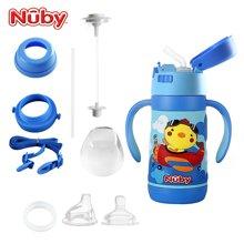 美国品牌 Nuby努比婴儿保温奶瓶宽口径316不锈钢奶瓶卡通宝宝保温学饮杯