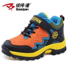 彼得潘童鞋冬季新款儿童登山鞋加绒保暖中大童休闲男童户外鞋P873