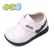 小叮当儿童皮鞋新款童鞋男童皮鞋黑色皮鞋学步鞋英伦单鞋DC60002