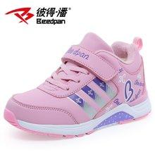 彼得潘童鞋女运动鞋儿童波鞋女童休闲鞋秋冬季跑步鞋皮面旅游鞋P525