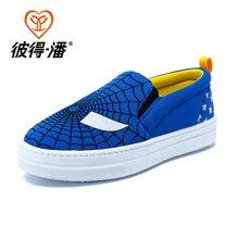 彼得潘童鞋 儿童休闲板鞋男童鞋女童帆布鞋男童透气运动鞋P288