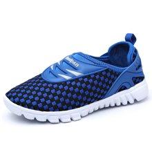 彼得潘童鞋夏男童鞋网布透气休闲鞋女童鞋编织网布儿童运动鞋P267