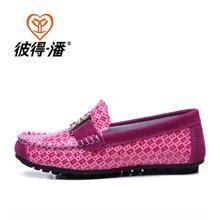 彼得潘 儿童皮鞋潮鞋女童鞋单鞋韩版潮男童鞋春秋款豆豆鞋P307