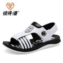 彼得潘童鞋夏季防滑男童凉鞋中小童沙滩鞋儿童休闲透气凉鞋P9002