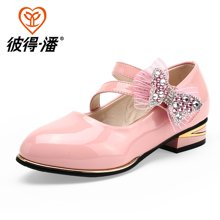 彼得潘女童鞋新款女孩公主鞋学生表演鞋黑色皮鞋单鞋女童皮鞋P6001