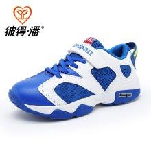 彼得潘男童时尚篮球鞋夏季新款儿童网面运动鞋中小童透气球鞋P825