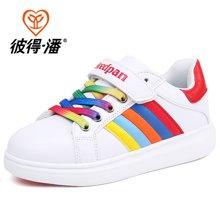 彼得潘秋季新款儿童板鞋男童休闲鞋透气时尚女童小白鞋P860