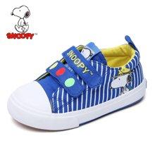 史努比童鞋春秋透气儿童帆布鞋男童板鞋休闲鞋宝宝布鞋子潮      s6332037