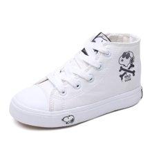 史努比童鞋男童帆布鞋春秋款儿童帆布鞋海盗船长系列百搭板鞋男童  S6330335