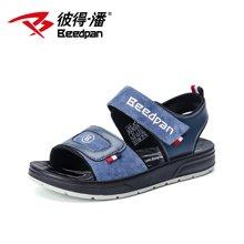 彼得潘童鞋夏季新款韩版中大童百搭儿童学生休闲凉鞋男童凉鞋P9003