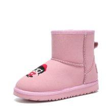 彼得潘童鞋冬季新款中大童韩版男童加绒保暖棉鞋儿童雪地靴子P6038