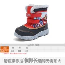camkids垦牧儿童雪地靴男童鞋冬季新款男童棉鞋加绒中筒靴