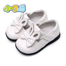 小叮当儿童皮单鞋秋季新品韩版软底宝宝学步鞋1-3岁简约单鞋DC60011