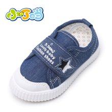 小叮当儿童帆布鞋婴幼童鞋女童男童学步鞋秋季新品软底宝宝鞋slw60206