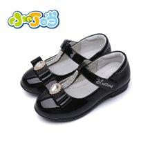 小叮当儿童皮鞋女公主鞋春秋新款女童鞋韩版水钻女童单鞋DC60611