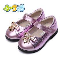 小叮当女童皮鞋秋季新款儿童皮鞋舞蹈演出单鞋宝宝鞋学步鞋DC60008