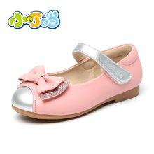 小叮当公主鞋春季新款女童皮鞋单鞋中小童学生水钻软底潮童鞋DA60108/208