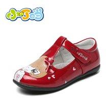 小叮当卡通潮单鞋春季新款女童皮鞋公主鞋儿童中小童黑色童鞋DA60103/203