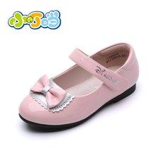 小叮当女童单鞋春季新款公主皮鞋黑色中小童儿童皮鞋学生鞋DA60107/207