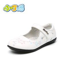 小叮当女童皮鞋公主鞋春季新款中小童学生单鞋DA60105/205