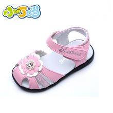 小叮当1-4岁女婴儿防滑软底学步鞋夏季新款宝宝凉鞋公主鞋机能鞋女童鞋DB60072