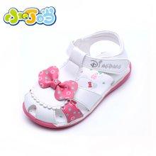 小叮当女童1-4岁夏季新款宝宝凉鞋女童公主鞋学步鞋亮软底包头婴儿鞋DB60071