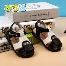 小叮当童鞋宝宝凉鞋新品宝宝学步鞋男女幼童包头凉鞋潮DB60075