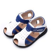 小叮当男童鞋宝宝鞋z新款包头婴童沙滩鞋软底防撞学步鞋DB60073