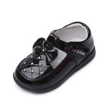 小叮当童鞋女童皮鞋韩版菱形水钻公主鞋春秋新款春季宝宝单鞋DC60005