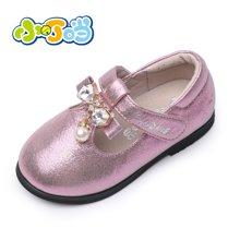 小叮当1-3岁宝宝单鞋儿童皮鞋公主鞋秋季新款女童软底学步鞋DC60009