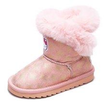 HELLO KITTY女童靴子2017冬季新款儿童雪地靴K7646812