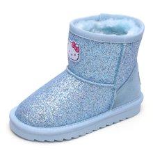 HELLO KITTY童鞋女童雪地靴2017女孩中筒加绒时装靴中大童保暖鞋子K7646811