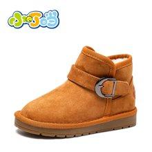 小叮当女童雪地靴2017年冬季新款韩版公主保暖靴子中小童短靴潮靴DD78518