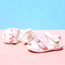 小叮当儿童凉鞋2017夏季新款女童幼童宝宝鞋学步鞋韩版鱼嘴公主鞋70012