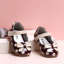 小叮当女童皮鞋2017春季新款儿童单鞋韩版女童公主鞋婴中小童皮鞋DA70001/71011/72011
