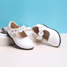 小叮当女童皮鞋春季新款校园公主演出单鞋中小童女童简约皮鞋DA72013/DA71013