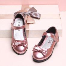 小叮当童鞋春季新款韩版公主单鞋简约女童软底皮鞋中小童潮鞋DA72010/DA71010