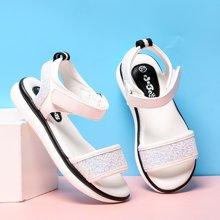 小叮当女童凉鞋2017夏季新款韩版软底防滑公主单鞋学生沙滩鞋潮鞋70525