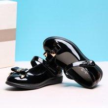 小叮当童鞋春季新款儿童皮鞋韩版女童公主单鞋婴中小童皮单鞋DA71002/72002