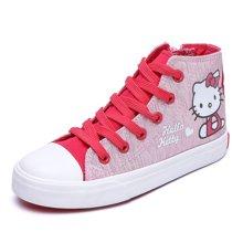 HELLO KITTY童鞋女童小高帮休闲板鞋帆布鞋K7717501