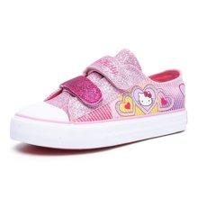HELLO KITTY童鞋女童帆布鞋2017新款儿童休闲鞋学生百搭布鞋K7717313+K7717513