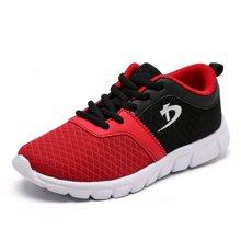 小叮当童鞋男童运动鞋秋新款网面跑步鞋中大男童儿童休闲鞋D781768