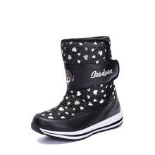 彼得潘女童靴子秋冬儿童雪地靴新款冬季棉鞋长靴P8057