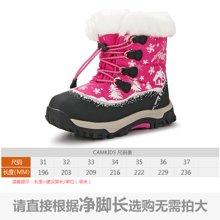 camkids垦牧女童鞋儿童棉靴冬季新款保暖加绒女童雪地靴防滑
