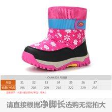 camkids垦牧女童棉靴保暖冬季儿童雪地靴加绒靴子中大童