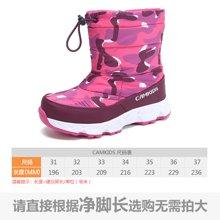 camkids垦牧儿童鞋户外棉靴冬季新款女童雪地靴加绒保暖靴子