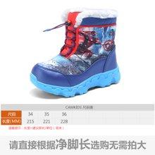 camkids垦牧儿童棉靴加棉冬新款防滑保暖男童雪地靴中筒靴子