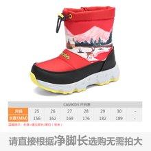 camkids垦牧儿童棉靴冬季新款男女童鞋小童保暖防滑雪地靴