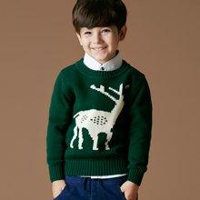 迪斯兔/disitu童装男童毛衣加厚套头圆领纯棉中大童线衫打底衫儿童针织衫潮M1022
